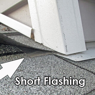 leaky flashing on home siding