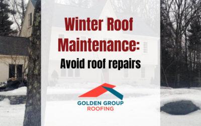 Winter Roof Maintenance: Avoid roof repairs