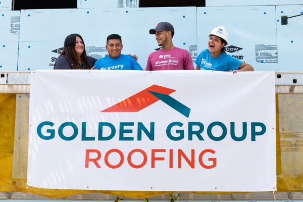 Golden Group Roofing Gives Back by Building a Roof for Habitat for Humanity in Worcester MA