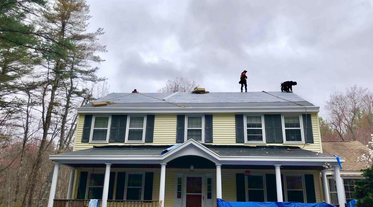New roof in Stow, MA
